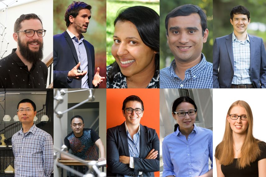 A collage featuring 10 new School of Science faculty.