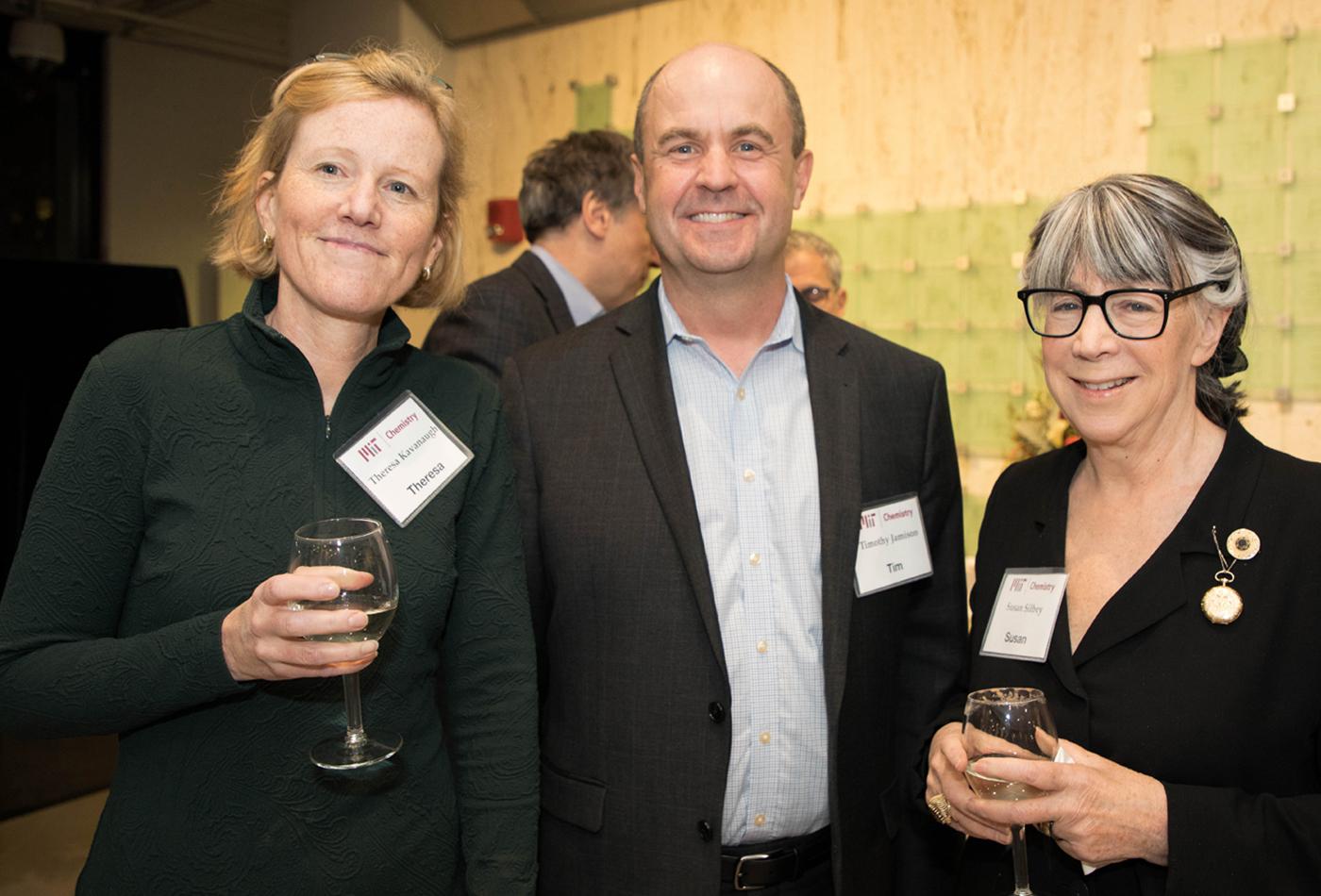 L-R: Theresa Kavanaugh, (PhD 1992, V), Prof. Tim Jamison, Prof. Susan Silbey