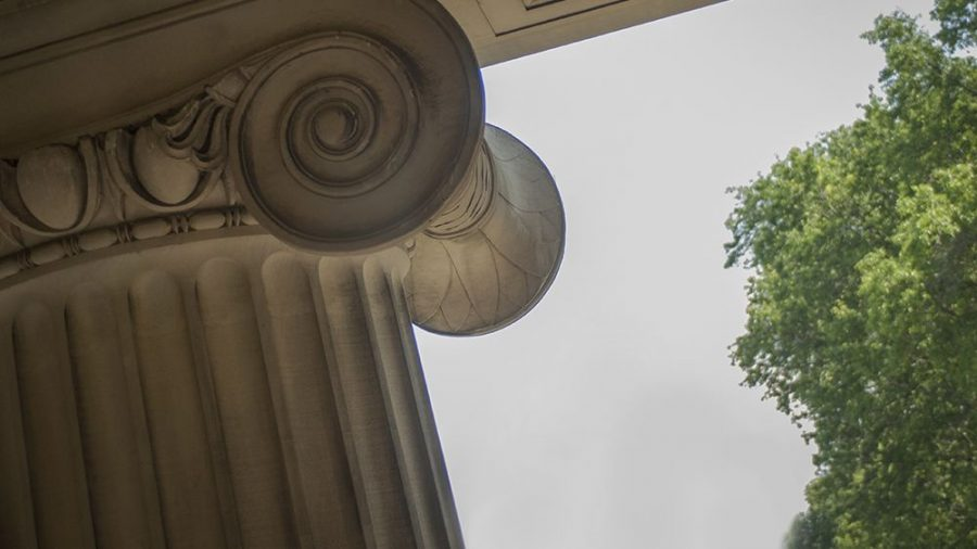 A column on MIT's Killian Court.