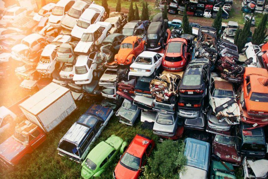An image of a car junkyard.