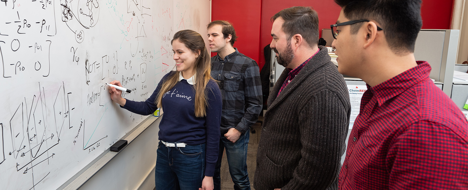 Members of the Willard Lab conduct research
