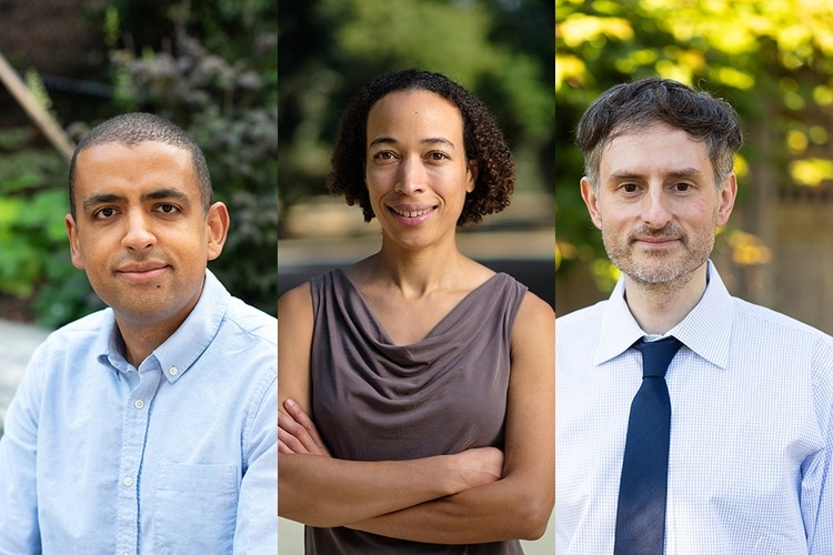 Headshots of three individuals who have won the MacArthur Grant.