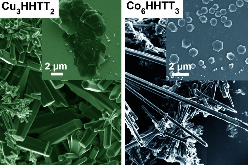 Image depicting the magnified images of MOFs.