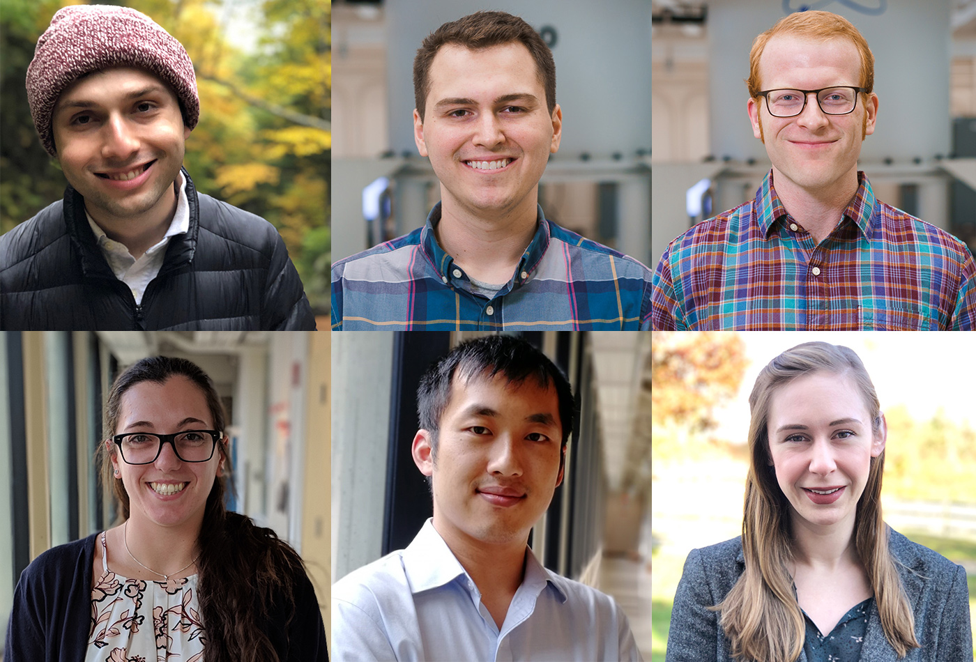 Tiled image of the six winners of the mentorship spotlight award.