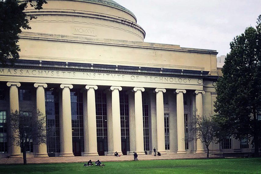 A photo of the exterior of MIT Dome.