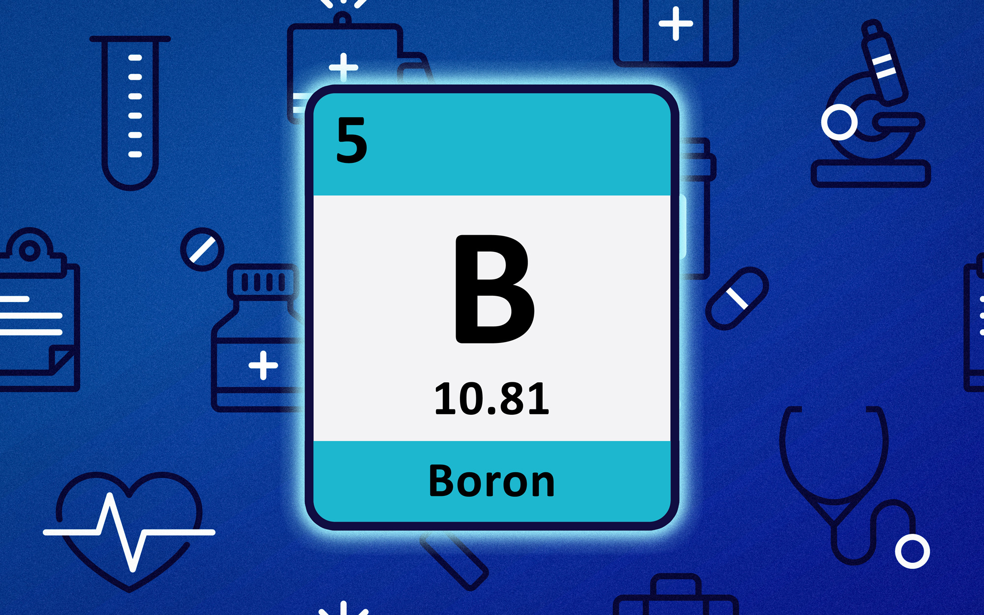 An image of Boron on the Periodic Table.