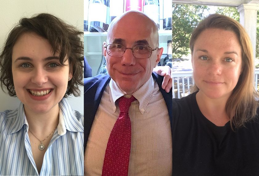 Headshots of three staff members.