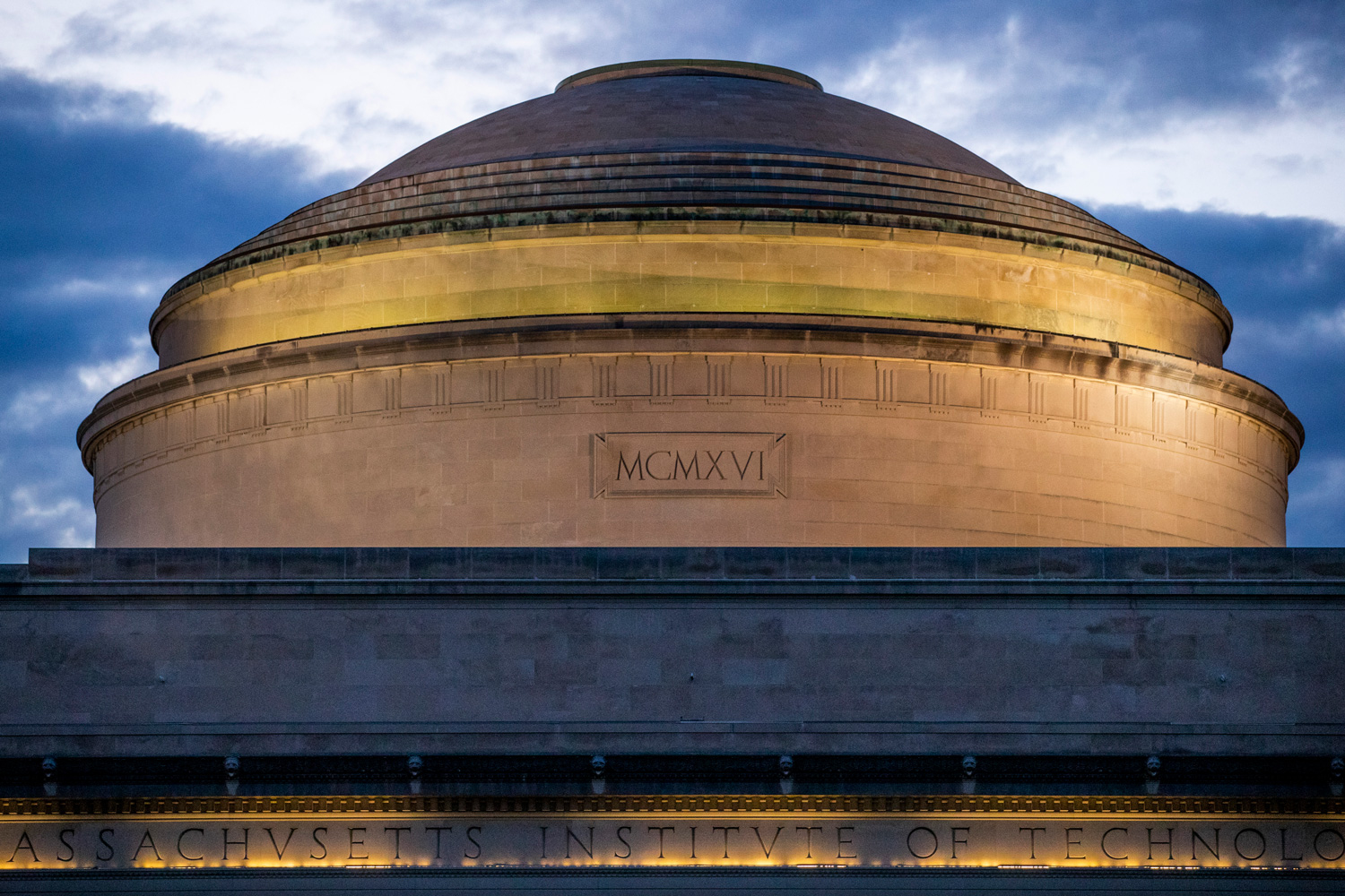 The top of the MIT dome at sunset.